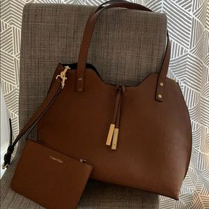 Calvin Klein purse with small clutch/wallet